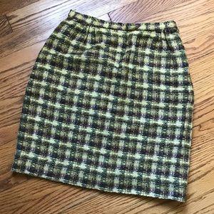 Vintage Evan Picone Wool Pencil Skirt